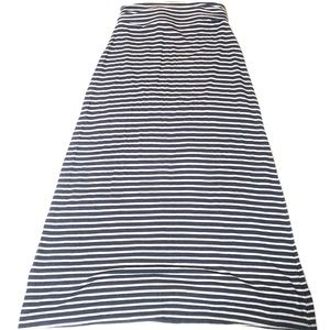 J Crew women's Blue Gray Striped maxi Skirt Small